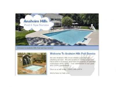 Anaheim Hills Pool and Spa Service Co.