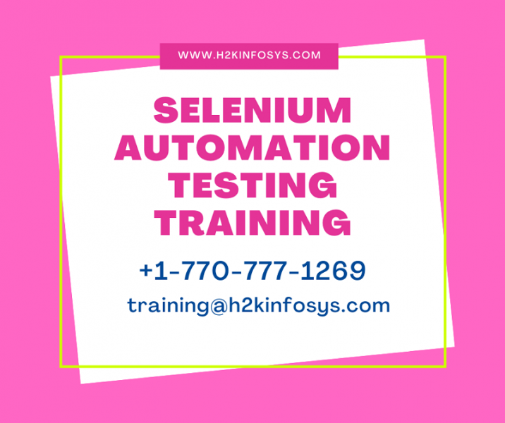 Learn Selenium Automation Testing With Certification Online