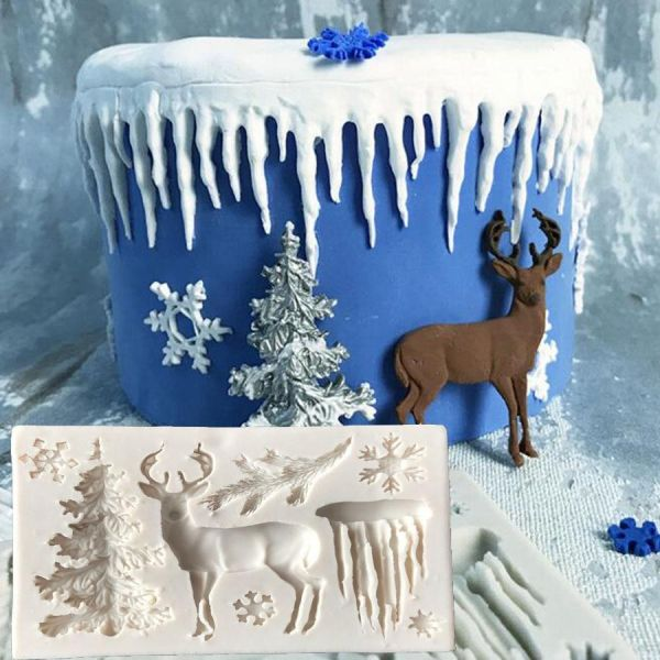 Christmas Tree Elk Snowflake Icicle Mould