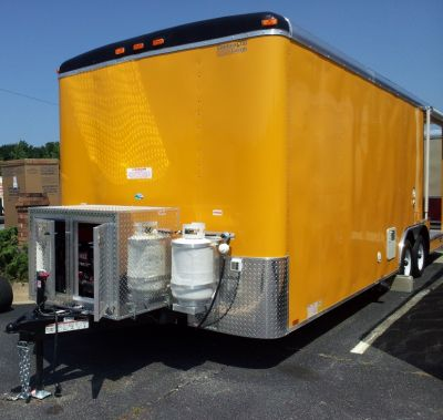 8.5X24 BBQ Beautiful Penske Yellow Concession Trailer