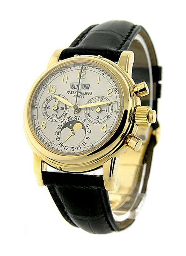 Patek Philippe Watches - Yellow Gold on Strap with White Dial - Essential-Watches