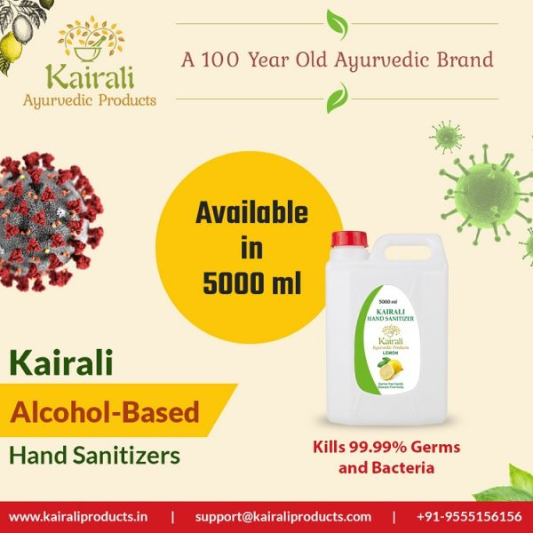 Kairali Hand Sanitizer Bulk pack of 5000l