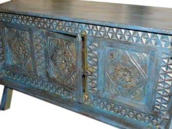 Antique tribal chest from india beautiful  Indian Carved Chest