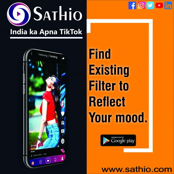 Sathio-Short Video Making & Sharing, Indian Tiktok
