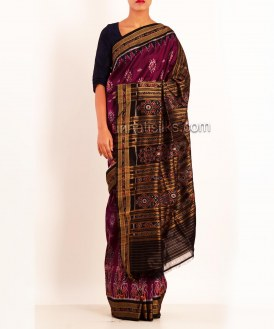 Online shopping for pink bomkai silk sarees by unnatisilks