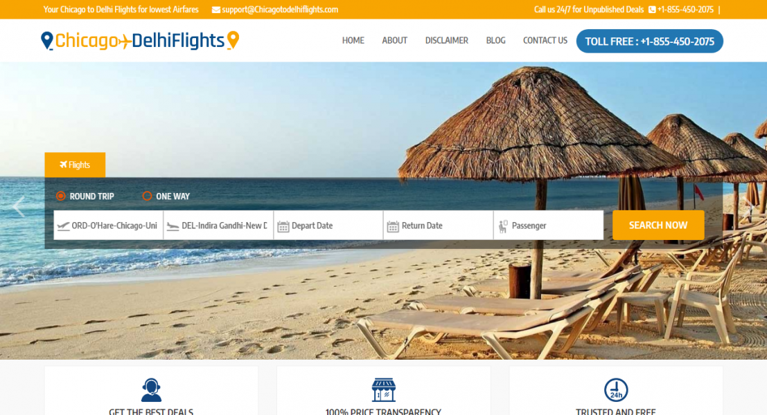 Chicago to Delhi - Cheap Flights Chicago to Delhi | 45% Off Book Now
