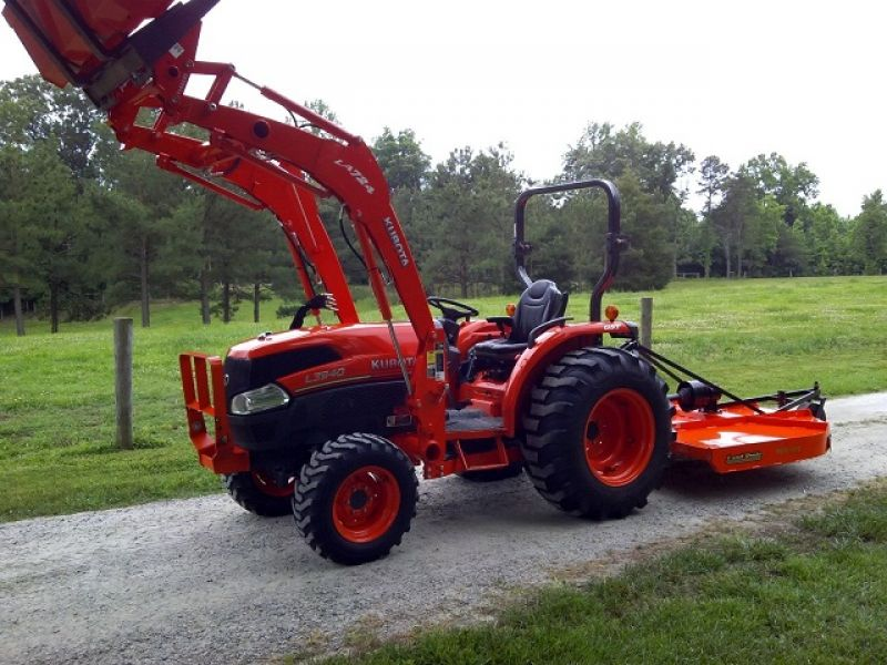 2011 Kubota L3940 4X4 Loader Bush Hog Forks