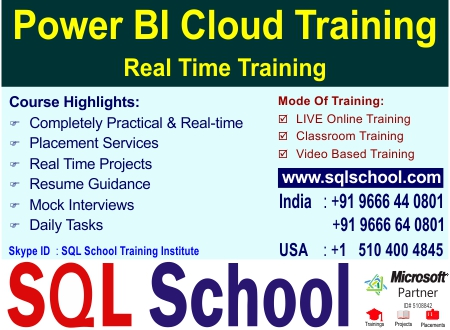 Microsoft Power BI  Best Project Oriented Classroom Training