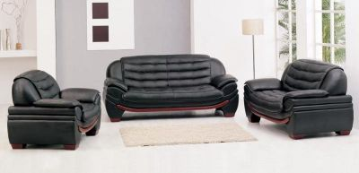 latest model black leather sofa for sale