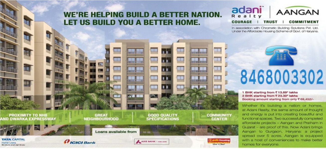 Adani Affordable Housing Gurgaon @ 8468003302