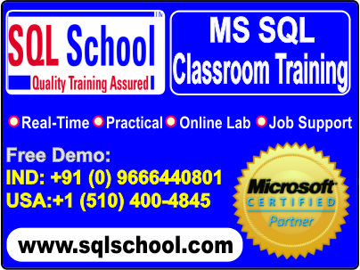 Project Oriented SQL DBA  Excellent Practical Classroom Training @ SQL School
