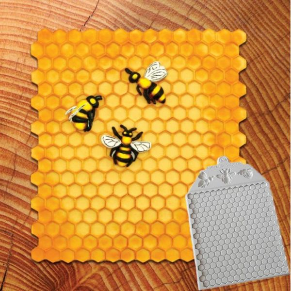 Honeycomb and Bees Textured Moulds