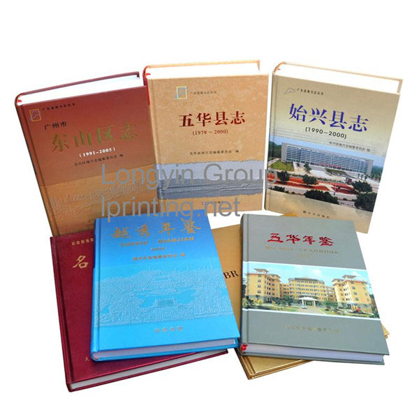 Hardcover County Annals Printing,Hardcover Book Printing Service China
