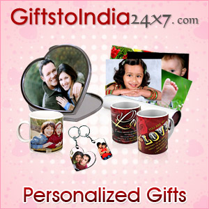 Delight your loved ones by sending attractive personalized gifts