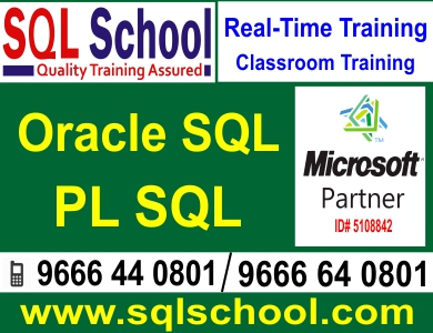 Microsoft PL SQL  Best Project Oriented Classroom Training @ SQL School