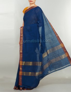 Online shopping for party blue color saris by unnatisilks