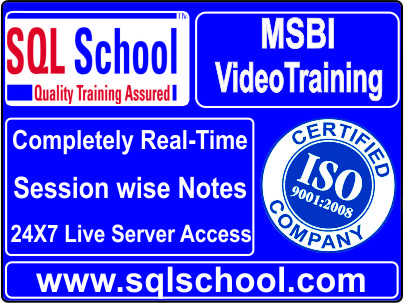 Best Video Training On MSBI @ SQL School