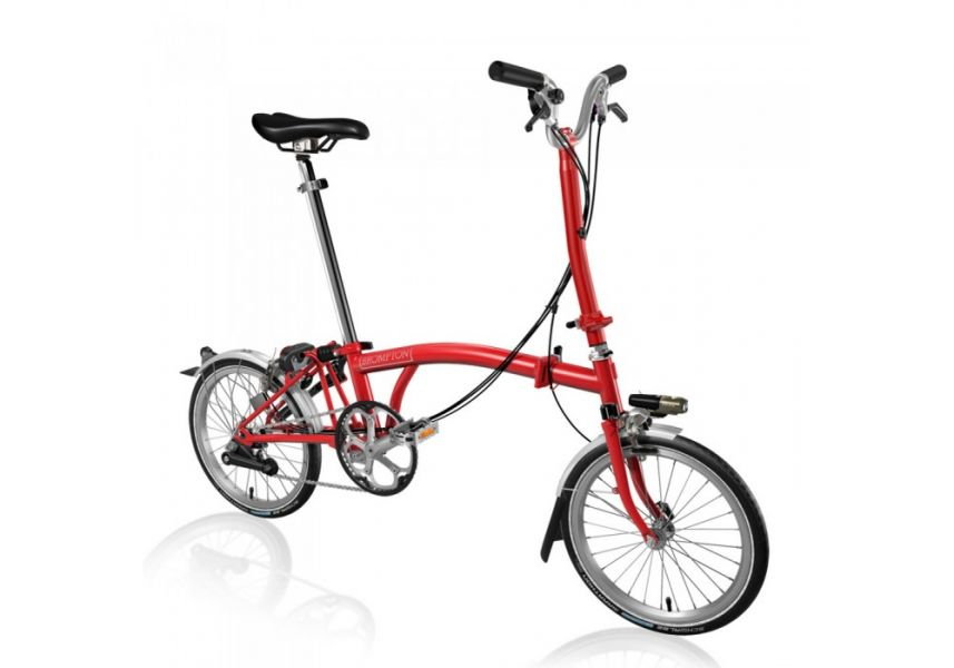 BROMPTON STEEL H6L FOLDING BIKE WITH MUDGUARDS (World Racycles)