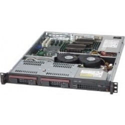 SUPERMICRO 1U 811T UP CORE I3 / E3 XEON V3 CPU, 32GB RAM MAX, 2 3.5' HOT-SWAP DISK SERVER