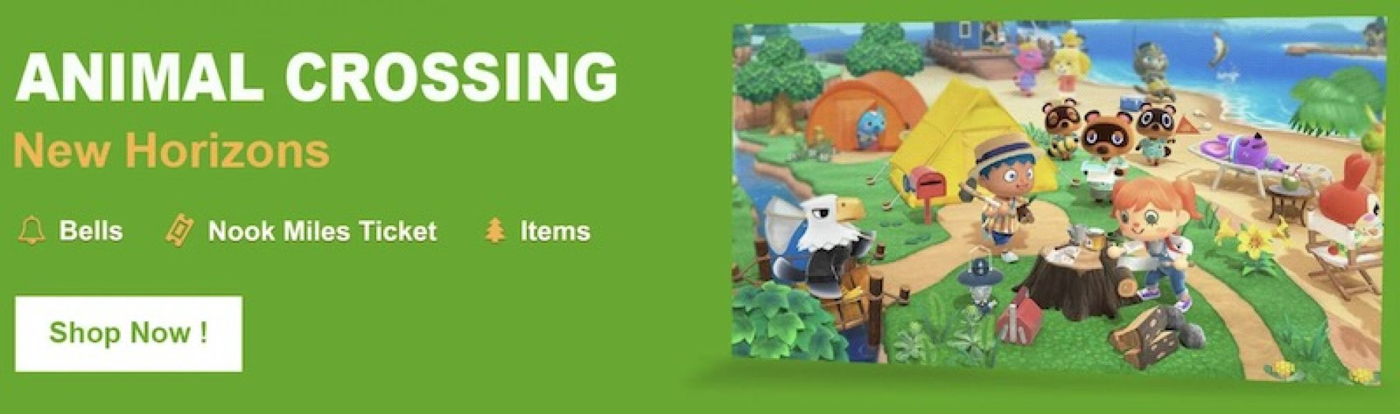 Buy Animal Crossing New Horizons Bells, Nook Miles and Items