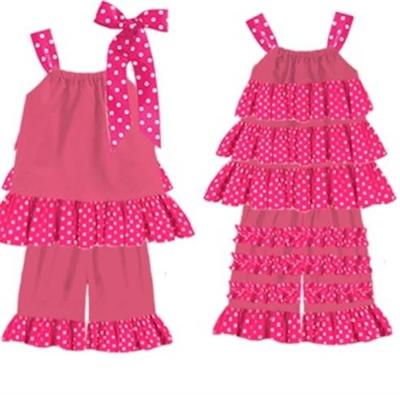 Adorable 2 piece Ruffle Outfits Little Girl Dresses.