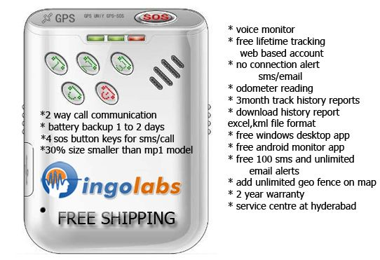 GPS Tracker Personal Mp2 Real Time 2 Way Call Inbuilt speaker 4sos