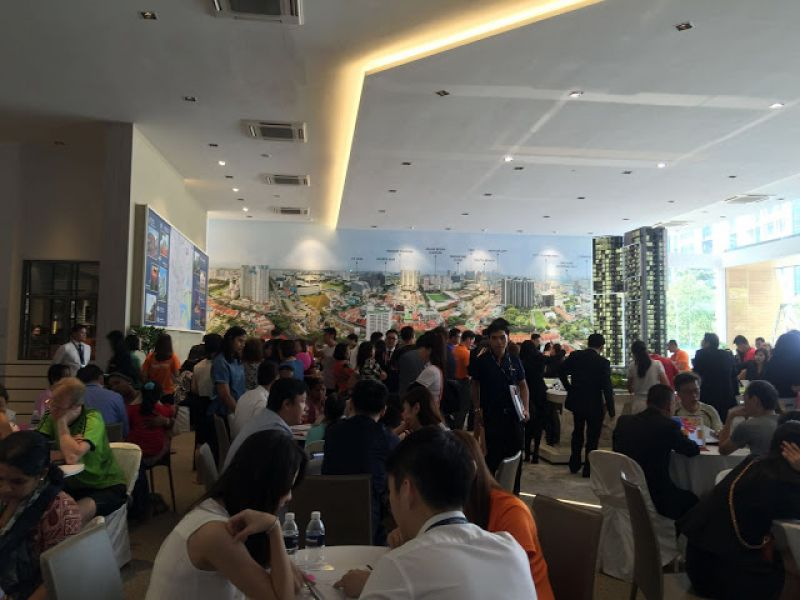 Crowd flocked to the preview at Sturdee Residences