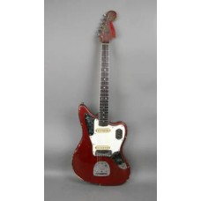 Nadamusik.net - 1966 Vintage Fender Jaguar guitar all original Candy Apple Red