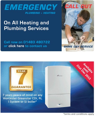 Call RJ Plumbing & Heating to Hire Experienced Local Plumbers in Woking