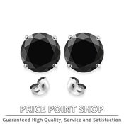 Fancy Black Diamond Stud Earrings for men & women at PricePointShop