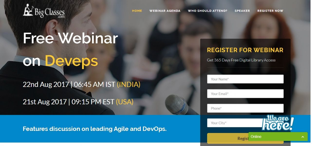 Free Webinar on Devops online training