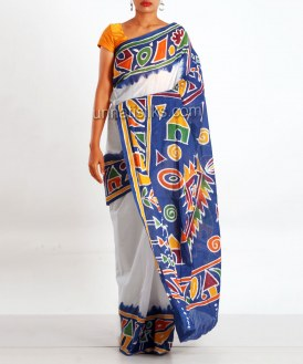 Online shopping for pure batik cotton saris by unnatisilks