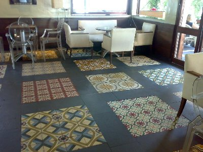 PATCHWORK - SPANISH STYLE - ANTIQUE TILE - VICTORIAN FLOOR - OLD PATTERNED TILE  /  LUXURYSTYLE.es