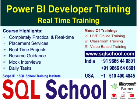 Power BI Real Time Video Training @ SQL School