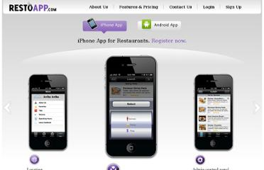 Restaurants App Features and Price - iPhone and Android