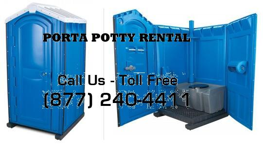 Standard porta potty units and restroom trailers for rent