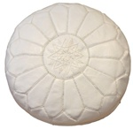 Moroocan Pouffe, Moroccan Leather Pouf