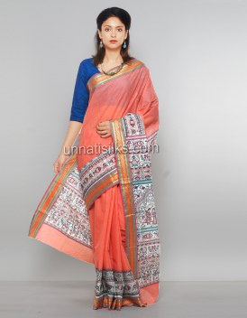 Online shopping for rajkot cotton madhubani sarees by unnatisilks