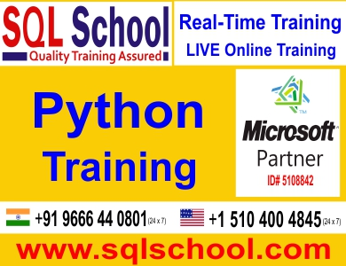 Real Time Project Oriented Online Training on Python @ SQL School