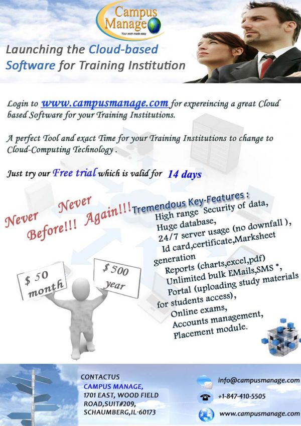 Free software for online training institute