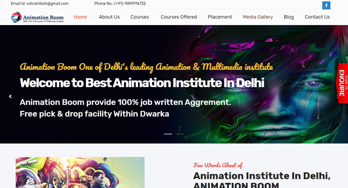 Animation Institute in Delhi - 100% placement assistance