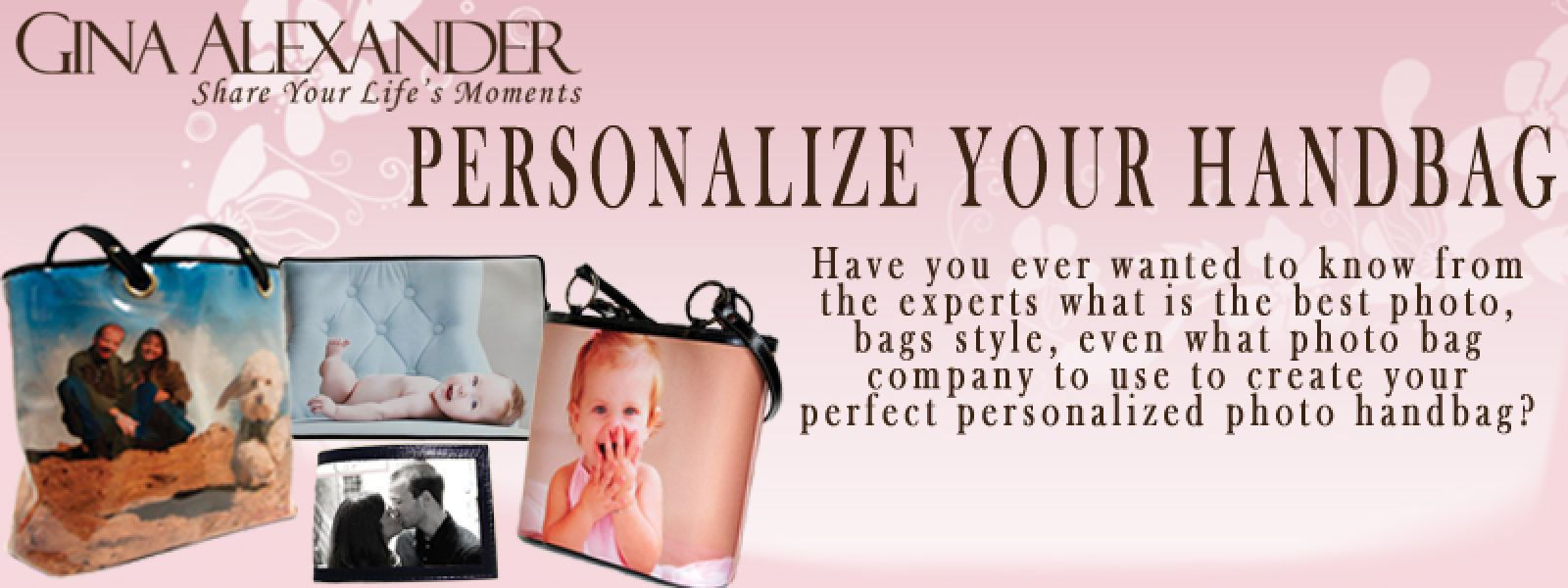 Personalize your Handbag by Gina Alexander