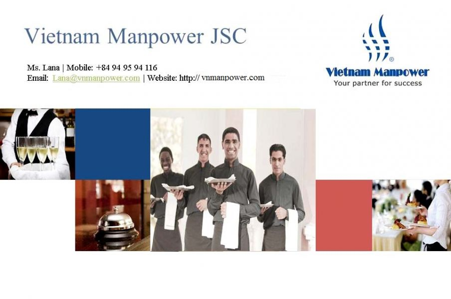 Reply to your demand for hospitality manpower from Vietnam