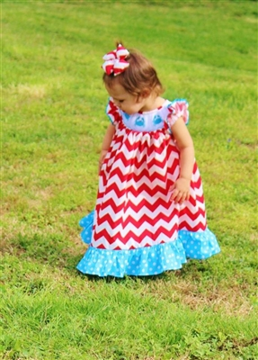 Unique printed Little girls Smock dresses from Ruffle girl that gives a sense of style and comfort.