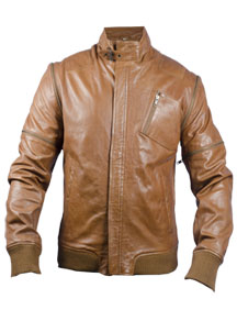 FactoryExtreme - Brown Leather Jacket For Men