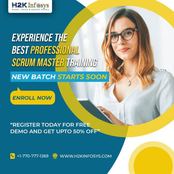 Experience the Best 𝗣𝗿𝗼𝗳𝗲𝘀𝘀𝗶𝗼𝗻𝗮𝗹 𝗦𝗰𝗿𝘂𝗺 𝗠𝗮𝘀𝘁𝗲𝗿 Online Training with H2kinfosys