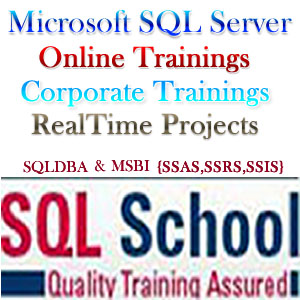 PROJECT ORIENTED ONLINE  TRAINING ON SQL SERVER DBA 2008 @ SQL School