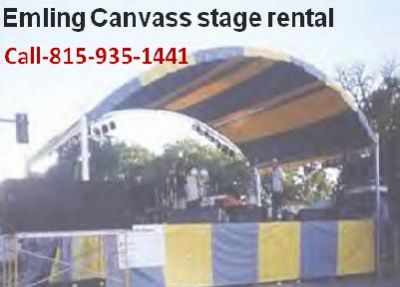 Emling Canvass stage rental