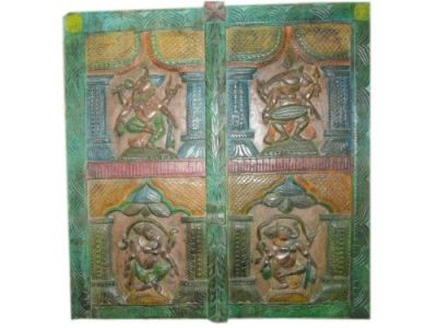Carved Panel 4 Different Dancing Ganesha India  $325.00