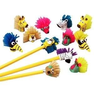 Wild Animal Pencil Toppers Only at Pacificpediatricsupply.com